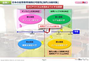図表3 日本の高等教育機関の可能性(国内18歳対象)