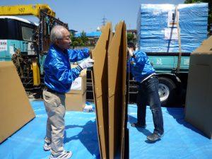 工学院大学、開発したダンボールシェルターを熊本被災地へ提供